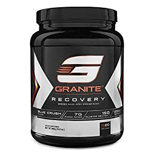 Intra-Workout Powder by Granite Supplements   20 Servings of Recovery Blue Crush to Maximize Muscle Growth and Speed Up Recovery   Includes Amino Acids, Cluster Dextrin, and Sensoril Ashwagandha