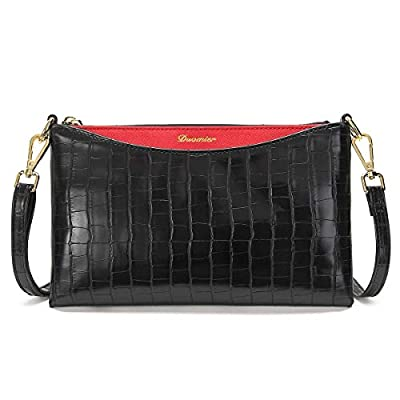 Small Wristlet for Women Purse and Clutch Handbags with Removeable Wrist Strap and Shoulder Strap