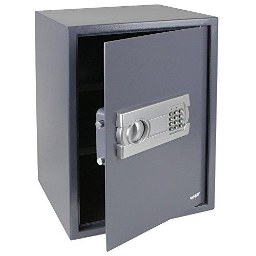 HMF 4612512 Tresor, Möbeltresor Elektronikschloss, 50,0 x 35,0 x 31,0 cm, anthrazit
