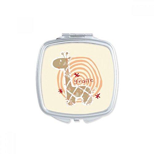 DIYthinker Lunettes Tigre Beau carré Animal Maquillage Compact Miroir de Poche Miroirs Mignon Petit Cadeau Portable à la Main Multicolor