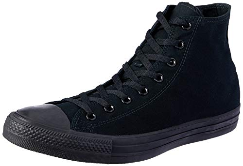 Converse Unisex Chuck Taylor All Star High Top Sneakers (9 D(M) US, Black Monochrome)
