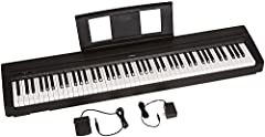 Amazon exclusive model includes power adapter and sustain pedal 88 fully weighted piano style keys simulate the feel of an acoustic piano and provide a quality playing experience Contains 10 different voices, including digitally sampled tones from re...