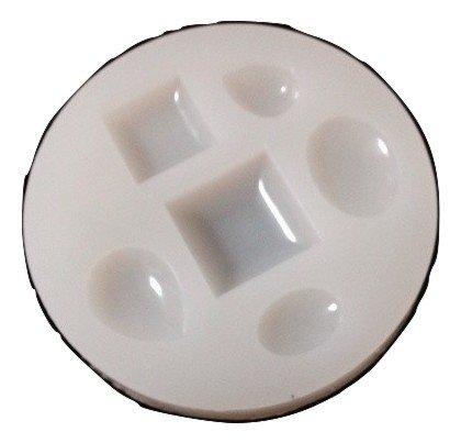 シリコントレイ 【 シズク、タイル、楕円がつくれる 型 】シリコン型 レジン モールド 型 レジンクラフト シリコンモールド パーツ (型番:L1) パウダートレーディング