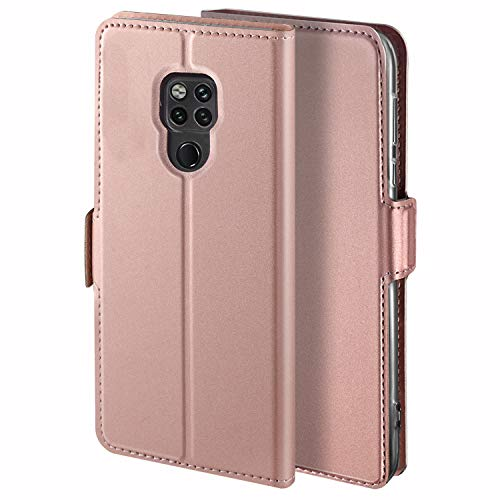 YATWIN Handyhülle für Huawei Mate 20 X Hülle Leder Premium Tasche Hülle für Huawei Mate 20X (5G), Schutzhüllen aus Klappetui mit Kreditkartenhaltern, Ständer, Magnetverschluss, Rose Gold