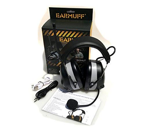 2017 DS-Alert EARMUFF dynamischer 31dB Gehörschutz mit BLUETOOTH und Surround Umgebungswahrnehmung - 2