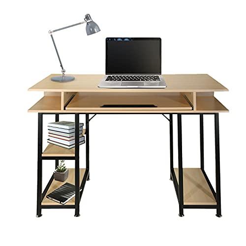 hjh OFFICE WORKSPACE H III 830068 - Organizador de escritorio (120 x 60 cm), color roble y negro