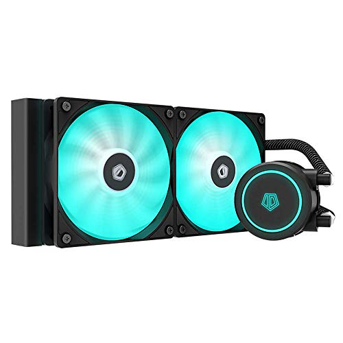 ID-COOLING AURAFLOW X 240 CPU Water Cooler 12V RGB AIO Cooler 240mm CPU Liquid Cooler 2X120mm RGB Fan, Intel 115X/1200/2066, AMD AM4