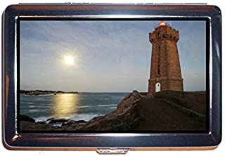 Stainless Steel Cigarette Case,Lighthouse Under Starry Sky Protection Credit Business Card Holder Case