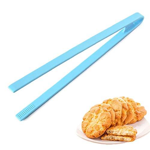 1 pinza de silicona para servir alimentos, resistente al calor, pinzas para pan, pinzas para servir alimentos para barbacoa y ensaladas (azul)