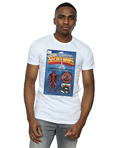 Marvel Hombre Deadpool Secret Wars Action Figure Camiseta Blanco Large