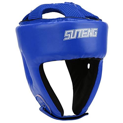 Casco de boxeo de piel sintética ajustable para la cabeza...