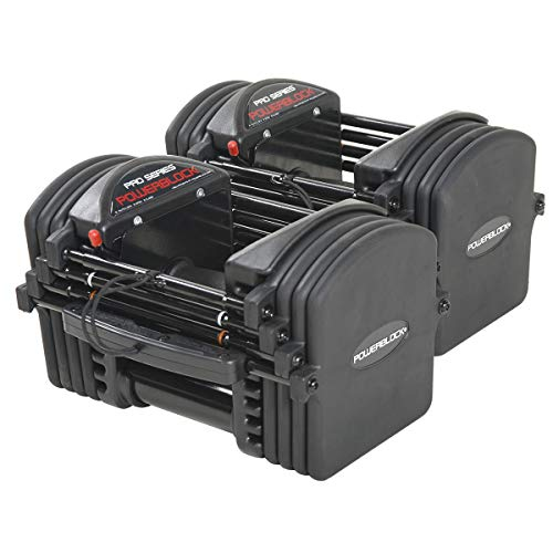 Powerblock Pro Exp - Juego de mancuernas cargables (2,27-22,68 kg)