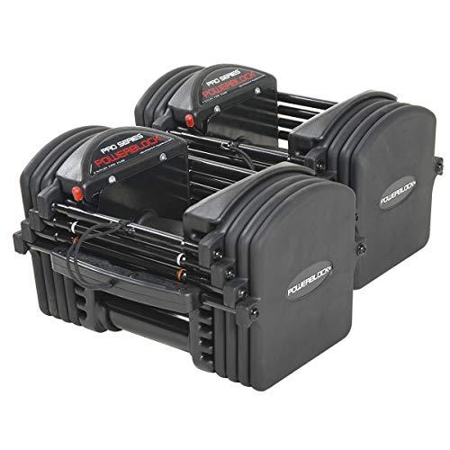 PowerBlock® Pro EXP Stufe 1 erweiterbare Einstellbare Hantelpaar set 2.25 - 23 professionell einsetzbar studio Qualität mit Urethanbeschichtete Stahlplatten