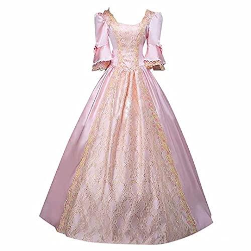 Vestido de Baile Medieval para Mujer Vestido Medieval Vintage Tallas Grandes con Cordones Cinch Vestido de corsé renacentista Disfraz renacentista Recreación de época Disfraz de Cosplay teatral