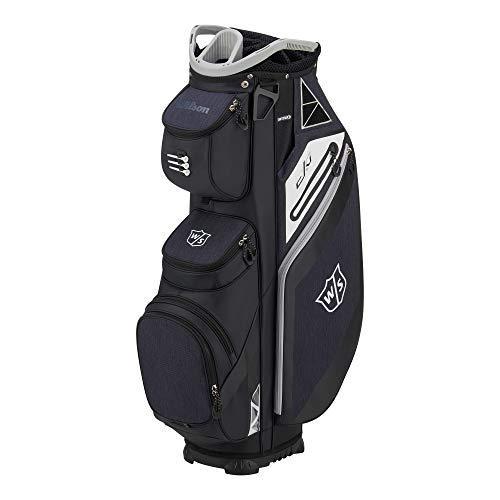 WILSON Herren W/S EXO CART Golftaschen, Schwarz/Grau, One Size