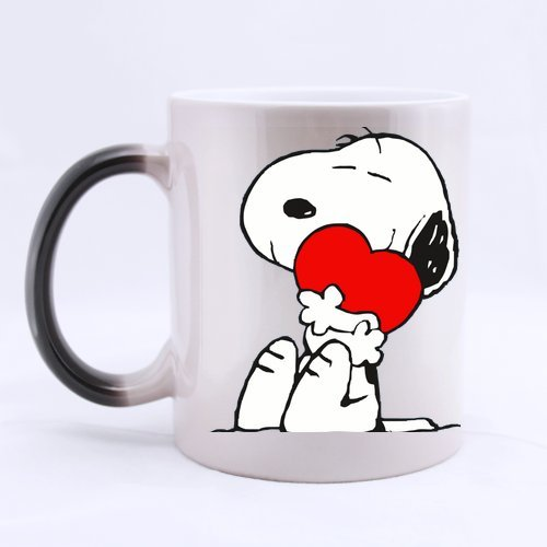Fantastische Tasse Snoopy Custom Keramik Magic Farbwechsel 'Tasse MORNING Coffee Tee Milch trinken Gläser