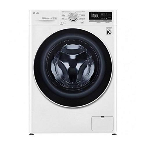 Lavasecadora Lg F4DN4008S1W, Blanco, lavado 8 kg, secado 5 kg, 1400 rpm, A