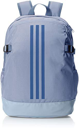 adidas 3-Stripes Power Backpack Medium - Raw Steel/Raw Steel/Noble Indigo, 16 x 32 x 44 cm