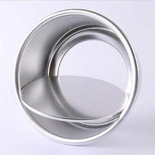N\C DMKD Herramientas para Hornear en el hogar de Cocina, Molde Antiadherente Creativo para rosquillas y Galletas, aleación de Aluminio Plateado (22 x 7,7 cm) xin DMKD