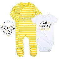 OPAWO Baby Boy Footed Sleeper Moustache Milk Print Long Sleeve Pajamas Infant Cotton Romper 0-18 Months