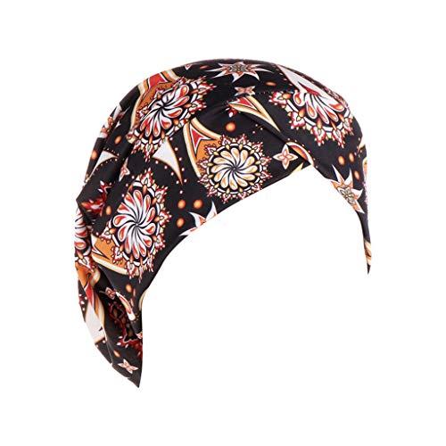 potente para casa OPAKY Moda Indio Imprimir Mujeres Sombrero Musulmán Volante Sombrero Cáncer Quimioterapia Wrap Cap Goro …