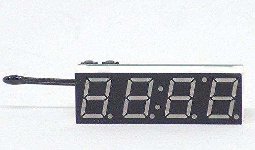 小型7セグLEDデジタル時計・温度計(赤)