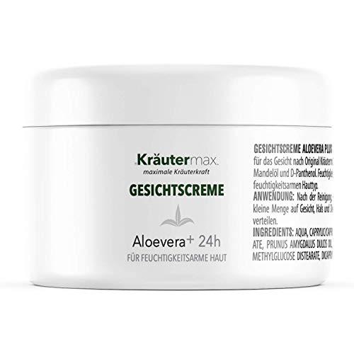 Aloe Vera Gesichtscreme Naturkosmetik Gesicht Creme Gesichtspflege mit Aloevera Gel 1 x 100 ml