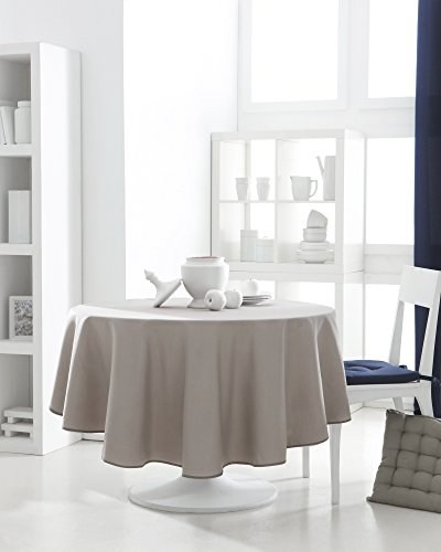 Today 256307 Nappe Ronde Polyester Mastic 180 x 180 cm, Beige
