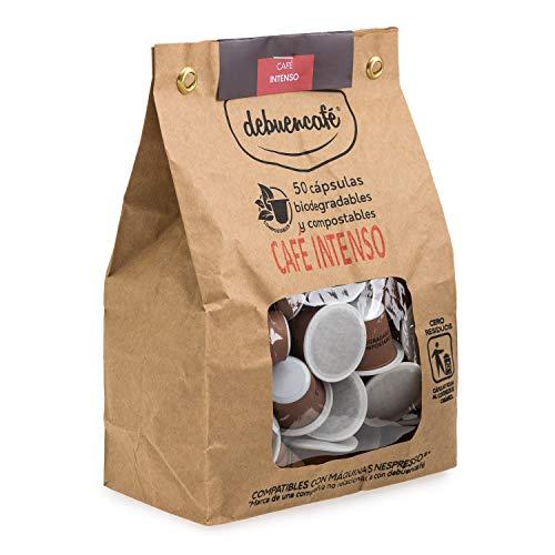 debuencafé. 50 Cápsulas Compostables de Café Ecológico Intenso. Compatibles con Nespresso ®