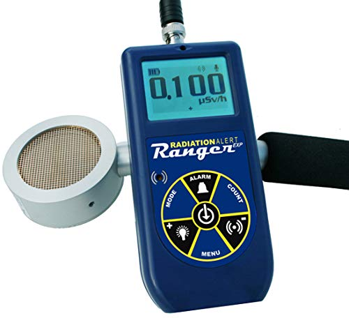 """Radiation Alert RangerEXP External 2"""" Geiger Muller Detector, Bluetooth with Free Observer BLE App, Protective Boot, Excellence in Radiation Detection"""