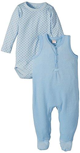 Name It YUMS NB So Velour Set Ensemble, Bleu (Faded Denim), FR: 6 Mois (Taille Fabricant: 68) Mixte bébé