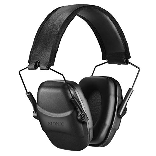 34 dB NRR Shooting Ear Protection Noise Reduction Safety Shooting Ear Muffs,Shooters Hearing Protection Adjustable Shooting Earmuff,Professional Ear Defenders for Shooting Hunting Impact Sports Ear Muffs Black