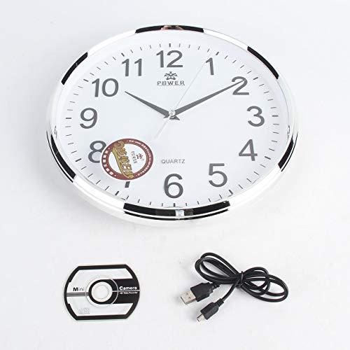 Ballylelly Reloj de pared Cámara WiFi Cámara de vigilancia de 5MP Cámara de acceso para teléfono inteligente Grabadora de video Monitoreo de seguridad