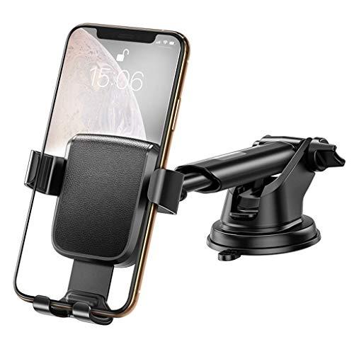 Cxjff Support de téléphone de voiture stable, ANTIDÉRAPANTES forte Adsorption Roulement fort approprié for 4.7-6.5 pouces Smart Phones (Couleur: Noir) (Color : Black)