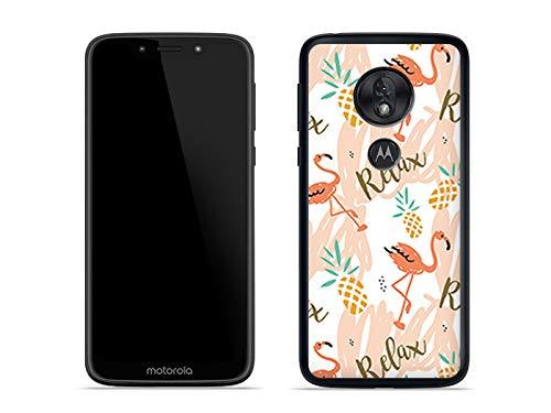 etuo Handyhülle für Motorola Moto G7 Play - Hülle Fantastic Hülle - Rosa Flamingos - Hülle Schutzhülle Etui Hülle Cover Tasche für Handy