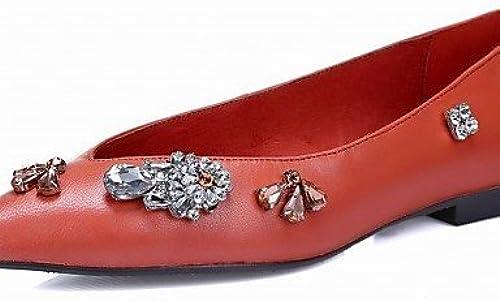 DFGBDFG PDX femme Talon Plat en faux daim Chaussures bateau Confort Bout Pointu apparteHommests extérieur bureau & carrière Party & Soirée