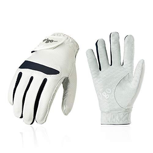 Vgo... Golfhandschuhe für Kinder von 5-6 J.A,Mikrofaserpalmen, weich und atmungsaktiv(1 Paar, Kid-S, Weiß, MF7991)