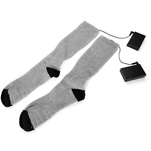 Bediffer Calcetines eléctricos recargables, unisex de alta calidad, con aislamiento térmico, material de algodón práctico para hombres y mujeres