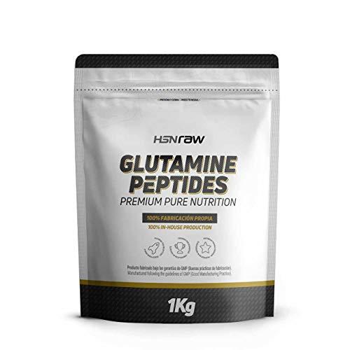 Péptidos de Glutamina de HSN | Máxima Biodisponibilidad y Mayor Asimilación, Recuperación Muscular Óptima, Salud Intestinal | Vegano, Sin Lactosa, Sin Sabor, 1000 gr
