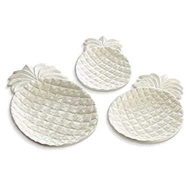 Pineapple Serving Plates, Nested Set of 3