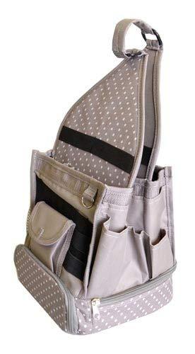Artemio–Bolsa de Rangement-Taupe con pois-25X 25X 44cm, Textil, Multicolor, 24x 24x 44cm