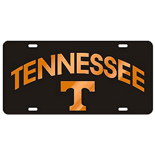 Craftique Tennessee Volunteers Black TN/T Laser Cut License Plate