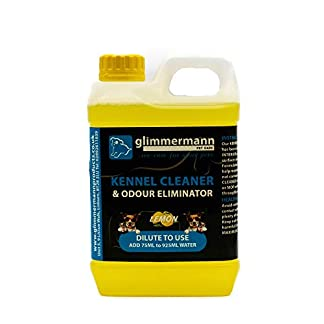 Glimmermann Products Kennel Cleaner and Odour Eliminator Urine Disinfectant Lemon 1.8L 12