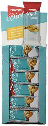 Prozis Diet Bar 12x35g - Delicioso Aperitivo Bollo de Canela - Rico en Proteína y Bajo en Hidratos de Carbono y Azúcares - Ideal para las Dietas de Pérdida de Peso y Libre de Culpa