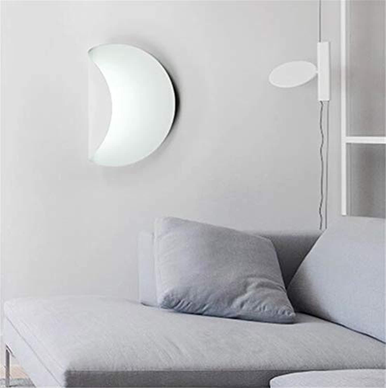 Wand-Sconces & Lights, Nordic Minimalist Modern Wall Lampe, personalisierte Weiß Creative Wall Lights Bedside Lampe, LED Home Corridor Lighting,Weißlight