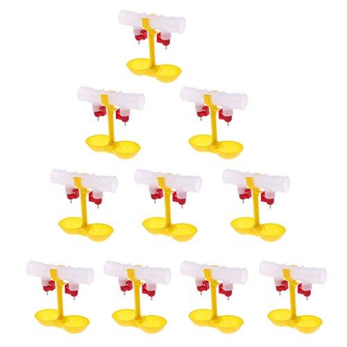Sharplace 10pcs Distributeur d'Alimentation d'Eau Automatique pour Volaille en Plastique - Double Tasses