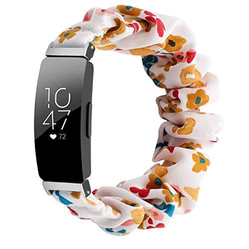Jennyfly Pulsera deportiva compatible con Fitbit Inspire 2, correa de reloj suave elástica de 125 mm (5 pulgadas) de repuesto para reloj de pulsera elástica