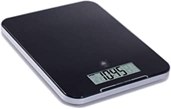 JJJJD Electric Weighing Scales Household Portable Digital Kitchen Scale Small Electronic Scale LCD Large Screen Display 10kg Black/White (Color : Black)
