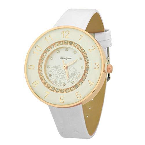Uhren Frauen Quarz Armbanduhr Uhr Damen Kleid Geschenk Uhren eckige armband strass ausgefallene wasserdichte rn funkuhr edle preiswerte handuhr digitale solaruhr Weiß11039 40822