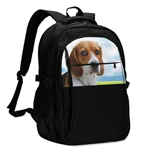 XCNGG Valentines Day Dog Large-Capacity with USB Data Cable and Music Jack Business Backpacks for Women Men